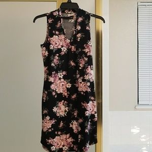 Floral Cut-out dress